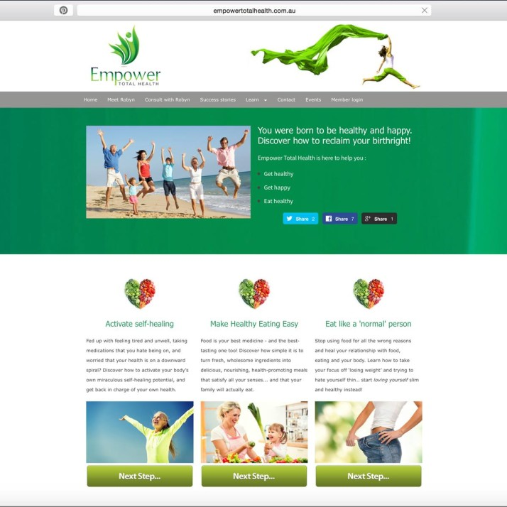 Empower Total Health Website